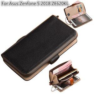 Sacoche téléphonique multifonction pour Asus Zenfone 5 2018 ZE620KL pochette de téléphone pour Asus Zenfone 5 2018 Etui portefeuille avec porte-cartes