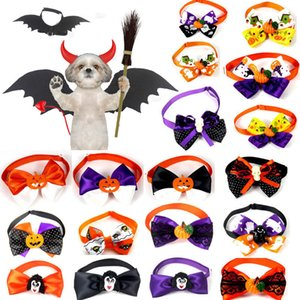 Suprimentos Halloween Pet Bow Tie Animais Cães Gatos Pumpkin Witch Santo Collar bowknot Tie Halloween férias Grooming Pet