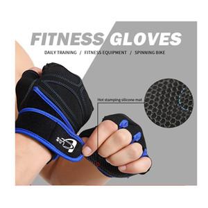 S-XL Gym Gants Sport Exercices d'haltérophilie culturisme respirant anti SlipTraining Fingerless Gants Haltères Fitness Hommes