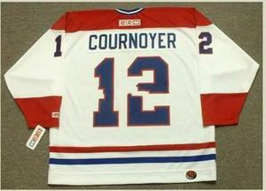 Uomo # 12 Yvan Cournoyer Montreal Canadiens 1978 CCM retrò casa Hockey Jersey o personalizzato qualsiasi nome o il numero retrò Jersey