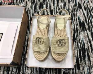 2019 neue Art auf dem Markt, Frauen arbeiten Schuhe, bunte gewebte Sandalen, Fischer Stil Sandalen, Größe 34-41