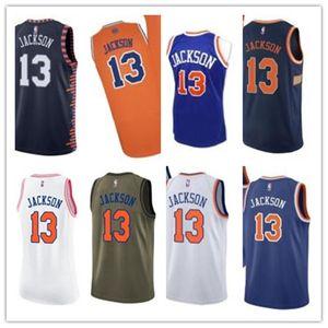 ncaa custom basketball jersery Ny 13 Mark Jackson New YorkKnicks Knick free ship white red yellow basketball wear