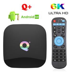 Q Plus Android 9.0 TV Box Allwinner H6 4gb Ram 32 / 64GB Rom 6k Wifi USB3. 0 PK T95Q s905x2 Media Player