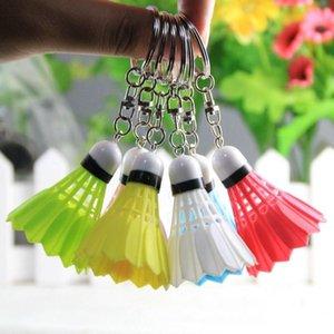 Hot Mini variopinta creativa Titolare Badminton anello chiave di Keychain del telefono mobile del sacchetto auto pendente Hanging fibbia 60pcs / Lot