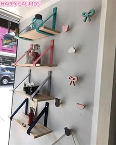 Décoration colorée étagères en bois feutre mur décoration larmier affichage magasin de vêtements pour enfants salle enfants pied T200319