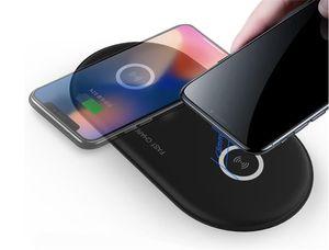 2019 горячая пункт двойной беспроводное зарядное устройство чехол для iPhone Samsung 10Вт скорости добавить адаптер быстрое зарядное устройство для iOS андроид