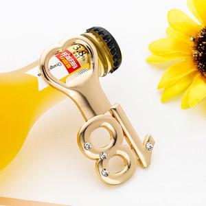 Ouro abridor de garrafas 18o presente para os meninos Golden Number 18 abridores de garrafa Birthday Party Favors Presente do aniversário