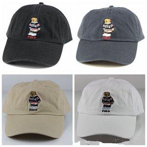 Casquette beyzbol Cap siperliği erkekler hip hop Snapback Caps 2020 ücretsiz kargo klasik tarzda beyaz mavi siyah renkler polo ayı şapkalar