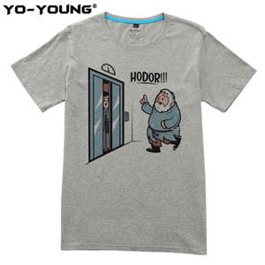 Oyun Thrones Hodor Jon Kar Erkekler T Shirt Erkekler Için Komik Tasarım T-Shirt Dijital Baskılı 100% 180g Penye Pamuk Özelleştirilmiş