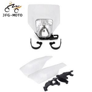 Moto guidon Protège-main Handguard Phare Head Light Projecteur pour FC TC FE Husqvarna TE FX TX 125 250 300 350 450