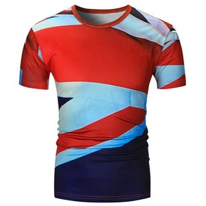 Crew Mens Luxury Mascule Cuello Diseñador 3D Tees Fashion Print 2020 Ropa Slim Tshirts Summer Casual Inoqb