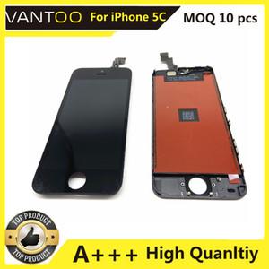 A +++ Передняя панель с сенсорным экраном Outer Glass Lens + Cold Press Среднего кадром ободок + ОСА Установленная для iPhone 5S 5са