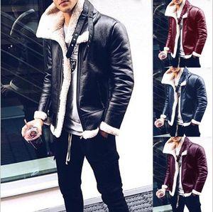 Pure Color de inverno homens Faux Casaco de couro Homens Homens Coats lazer moda casual jaquetas casuais Men Overcoat