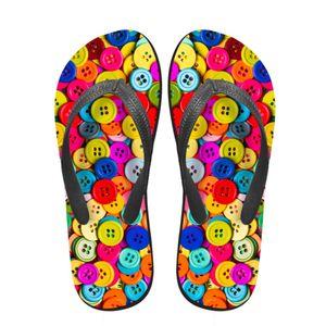 Noisydesigns Women flip flops 3D Fastener Chain Cap Printed Summer Platform loafers Female sandals Toe Slippers Anti-slip Shoes