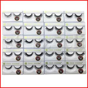 3D pestañas Las pestañas falsas naturales largas pestañas de extensión 100% del pelo humano del falso Pestañas de herramienta del maquillaje de 10 pares establecen 20 estilos