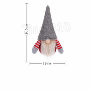 Natal Handmade Swedish Gnome escandinavo Tomte de Santa sem rosto Nordic Plush Toy boneca ornamento Xmas Decor Árvore ornamento T2I5604