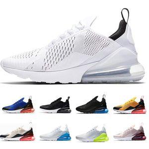 Nike Air Max 270 Caldo commercio all'ingrosso 20 colori 27C mens scarpe da uomo di alta qualità Mens Flair Triple Black Trainer Donna aria casual scarpe sneakers Taglia EUR 36-45