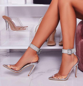 designer pumps transparent clear heels fashion luxury designer women shoes high heels stiletto heels silver gold wedding shoes size 35 to 40