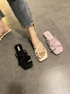 Female Shoes Summer Woman Womens Slippers Outdoor Beige Heeled Sandals Glitter Slides Rubber Flip Flops 2020 Beach Black