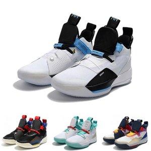 Commercio all'ingrosso nuovo ZOOM Jump man 33 Future Origins Tech Pac Scarpe da pallacanestro 33s per uomo Michigan PE Scarpe da ginnastica da esterno Jogging Sneakers libera la nave