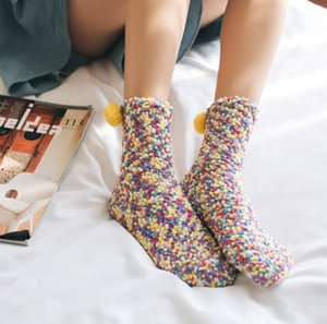 new Korean Style chirstams Cake Socks 9 Styles Girls Cotton Warm Socks Cake Socks Women Tube Bubble Coral Cashmere stockings