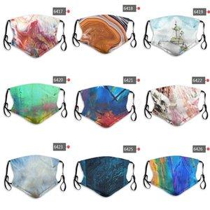 DHL free shipping 2020 new men and women mask cotton designer masks personality graffiti landscape custom face masks PM2.5 mask