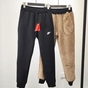 Moda Trackpants Yeni Kalın sıcak kuzu derisi pantolon Erkek Jogger Pantolon Hip Hop Streetwear 19SS Sportpants Erkek Giyim