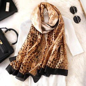 Yulaili Fashion Leopard Print Silk Scarf Women Wraps and Shawls Female Beach Hijab Ladies High Quality Scarves Free Shipping