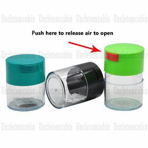 3 Capacidad Diferente de vacío sellada al vacío tarro tarros Tapa caja de la píldora de Alimentos Granos Hierbas especias almacenaje del envase Frasco de cocina Botella Tanque