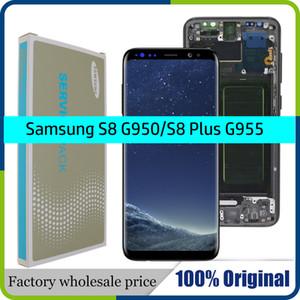 100% ORIGINAL SUPER AMOLED S8 LCD с рамкой для SAMSUNG Galaxy S8 G950 G950F Дисплей S8 Plus G955 G955F сенсорного экрана Digitizer
