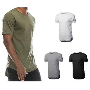 Горячая продажа Мужская лето Молоко Толик T-Shirt Men Casual с коротким рукавом O-образным вырезом Удобные Сплошной цвет Топы Тис