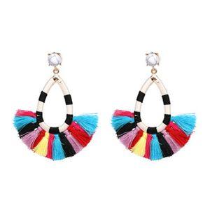 10 Colors Bohemian Tassel Earring Studs Chandelier Designer Jewelry Des Boucles D'oreilles Orecchini Women Long Earrings