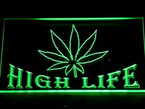 403 Leaf High Life Bar LED Neon Light Signs with On/Off Switch 20+ Colors 5 Sizes to choose