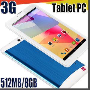 848 ucuz 7 inç 3G phablet Android 4.4 MTK6572 Çift Çekirdekli 512MB / 8GB Çift SIM GPS Telefon Görüşmesi WIFI Tablet PC ile Bluetooth EBOOK B-7PB
