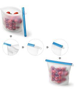 1000ml Reusable Silicone Food Preservation Bag Food Storage Container Versatile Kitchen Cooking Fresh Refrigerator Fresh Bag KKA5183