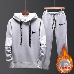 Sıcak Kadınlar Erkekler Spor Tracksuits Kazak Kapşonlu Pantolon 2 Adet Set Casual Bayan gömlek takım elbise sweatsuits Giyim Hoodies S-XXXL Sweat uygun