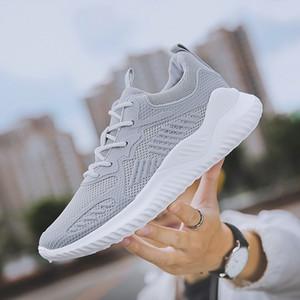 El enchufe de fábrica de peso ligero de los zapatos corrientes para los hombres Grey Otoño Primavera cómodo Anti Slip zapatos masculinos zapatillas de deporte de caminar al aire libre