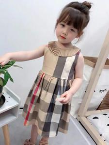 الفتيات اللباس 2019 أنماط INS فتاة الصيف الاطفال كم قصير جودة عالية اللباس القطن 4 ألوان جولة اللباس طوق طباعة هذه الرسالة ربطة الفتاة