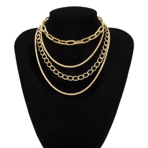 2020 new trendy Necklace Collar Statement Women Men Multi Layer Aluminum Chain Chunky Necklace for women Jewelry
