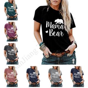 الصيف MAMA BEAR T قميص المرأة بلايز تي شيرت مطبوعة رسائل قصيرة الأكمام التي شيرت بنات سليم المحملة أنثى قصيرة الأكمام المرأة بلايز تيز E1903