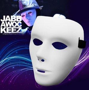 Máscara em branco Jabbawockeez Carnaval Carnaval Carnaval Máscaras Masquerade Hip Hop Branco Máscaras Para O Dia Das Bruxas Masquerade Bolas Cosplay Traje Festa Festiva