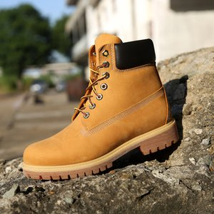 Originale 6 pollici stivali antiscivolo protezione dei piedi nudi scarpe TEMILADNBRE Brown Triple Black Navy Bianco Moda Uomo Martin Boot all'aperto