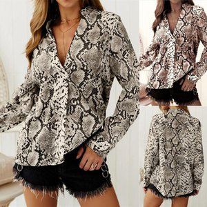 Apparel Women Casual Printed Blouses Long Sleeve Single Breasted Loose Womens Shirts Street Style Fashion Females