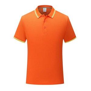Uomo e Polo donna bella classico a righe collare di eucalipto fibra di poliestere fibra corta T-shirt manica Arancione SD-7902-207