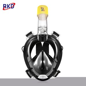 RKD Floating Panoramic View Anti-fog Full Face Diving Mask with Camera Support