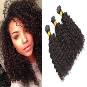 8A Brazilian Human Hair Bulk For Braiding Kinky Curly 12-32inch Brazilian Braiding Hair Bulk Drop Shipping
