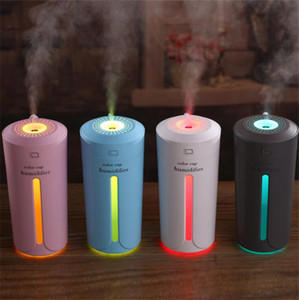 Mini Ultrasonic Air Humidifier Aroma Essential Oil Diffuser Mist Maker 7 Color LED Light Portable USB Humidifiers for Home Car Bedroom