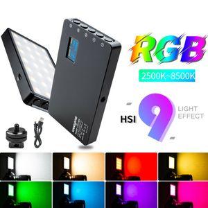 VILTROX Weeylite RGB 52pcs LED Luz de Vídeo Profissional display OLED fotográfica luz 2500-8500K ajustável Atire LED Camera Luz CRI 96