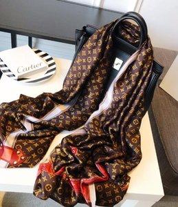 Cachecol De Seda quente para As Mulheres Primavera Verão Bloqueio Europeu design Longo Cachecóis Envoltório com Tag 180x70 Cm xales