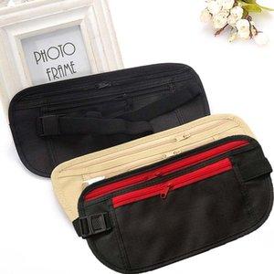 Pochette de voyage taille ceinture sac certificat de téléphone portable carte d'embarquement jogging à fermeture à glissière caché argent sac de rangement de sécurité enfants bourse C6295